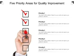 Five Priority Areas For Quality Improvement Ppt PowerPoint Presentation Inspiration Example