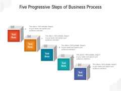Five Progressive Steps Of Business Process Ppt PowerPoint Presentation Gallery Icons PDF