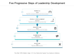 Five Progressive Steps Of Leadership Development Ppt PowerPoint Presentation Ideas Professional