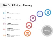 Five Ps Of Business Planning Ppt PowerPoint Presentation Ideas Gridlines