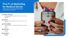 Five Ps Of Marketing For Medical Sector Ppt Ideas Picture PDF