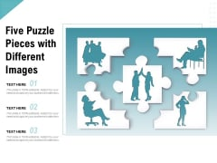 Five Puzzle Pieces With Different Images Ppt PowerPoint Presentation Summary Example
