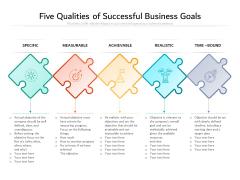 Five Qualities Of Successful Business Goals Ppt PowerPoint Presentation Portfolio Skills PDF