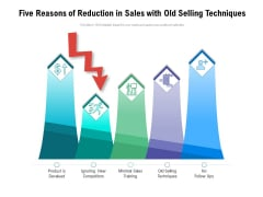 Five Reasons Of Reduction In Sales With Old Selling Techniques Ppt PowerPoint Presentation Styles Graphics Download PDF