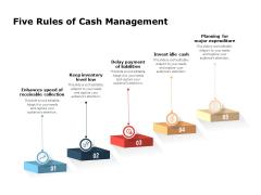 Five Rules Of Cash Management Ppt PowerPoint Presentation File Slide Portrait PDF