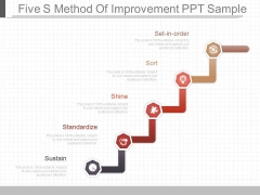 Five S Method Of Improvement Ppt Sample