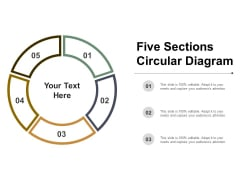 Five Sections Circular Diagram Ppt PowerPoint Presentation Gallery Rules