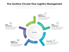 Five Sections Circular Flow Logistics Management Ppt PowerPoint Presentation File Layout Ideas PDF