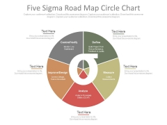 Five Sigma Road Map Circle Chart Ppt Slides