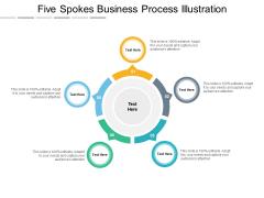Five Spokes Business Process Illustration Ppt PowerPoint Presentation Outline Grid