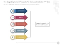 Five Stage Employment Prospects For Business Graduates Ppt PowerPoint Presentation Information