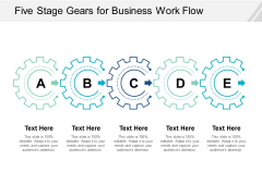 Five Stage Gears For Business Work Flow Ppt Powerpoint Presentation Slides Images