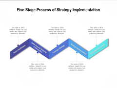 Five Stage Process Of Strategy Implementation Ppt PowerPoint Presentation Show Infographic Template