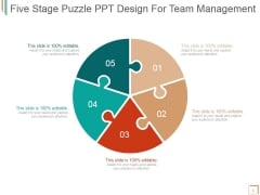 Five Stage Puzzle Ppt PowerPoint Presentation Outline