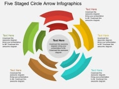 Five Staged Circle Arrow Infographics Powerpoint Template
