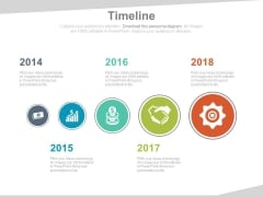 Five Staged Timeline For Financial Planning Powerpoint Slides