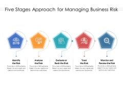 Five Stages Approach For Managing Business Risk Ppt PowerPoint Presentation Ideas Slide PDF