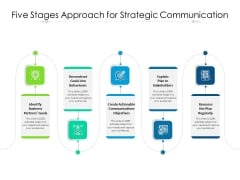 Five Stages Approach For Strategic Communication Ppt PowerPoint Presentation Model Skills PDF