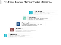 Five Stages Business Planning Timeline Infographics Ppt PowerPoint Presentation Icon Rules