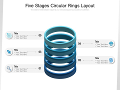 Five Stages Circular Rings Layout Ppt PowerPoint Presentation Portfolio Slides