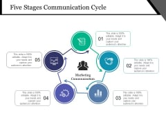 Five Stages Communication Cycle Ppt PowerPoint Presentation File Topics