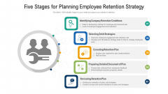 Five Stages For Planning Employee Retention Strategy Ppt Layout PDF