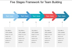 Five Stages Framework For Team Building Ppt PowerPoint Presentation Summary Rules PDF