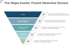 Five Stages Inverted Pyramid Hierarchical Structure Ppt PowerPoint Presentation Portfolio Slides