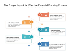 Five Stages Layout For Effective Financial Planning Process Ppt PowerPoint Presentation File Summary PDF