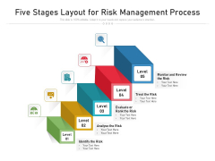 Five Stages Layout For Risk Management Process Ppt PowerPoint Presentation File Layouts PDF