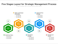 Five Stages Layout For Strategic Management Process Ppt PowerPoint Presentation Gallery Model PDF