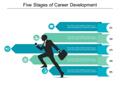 Five Stages Of Career Development Ppt PowerPoint Presentation Model Skills