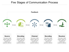 Five Stages Of Communication Process Ppt PowerPoint Presentation Infographic Template Ideas