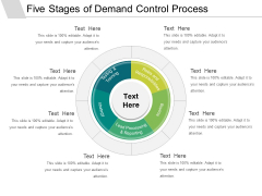 Five Stages Of Demand Control Process Ppt PowerPoint Presentation Gallery Deck PDF