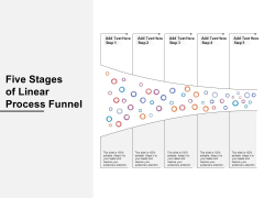 Five Stages Of Linear Process Funnel Ppt PowerPoint Presentation Professional Graphics Template PDF