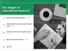 Five Stages Of Operational Research Ppt PowerPoint Presentation Summary Portrait PDF