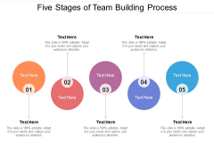 Five Stages Of Team Building Process Ppt PowerPoint Presentation Gallery Guidelines PDF
