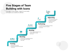 Five Stages Of Team Building With Icons Ppt PowerPoint Presentation Ideas Show