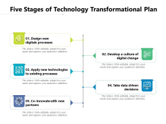 Five Stages Of Technology Transformational Plan Ppt PowerPoint Presentation File Visual Aids PDF