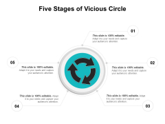 Five Stages Of Vicious Circle Ppt PowerPoint Presentation Gallery Guide PDF