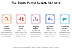 Five Stages Partner Strategy With Icons Ppt PowerPoint Presentation Outline Introduction PDF