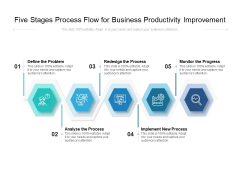 Five Stages Process Flow For Business Productivity Improvement Ppt PowerPoint Presentation Gallery Slides PDF