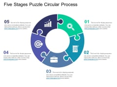 Five Stages Puzzle Circular Process Ppt PowerPoint Presentation Professional Design Ideas