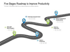 Five Stages Roadmap To Improve Productivity Ppt PowerPoint Presentation Model Show