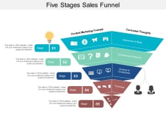Five Stages Sales Funnel Ppt PowerPoint Presentation Outline Example Introduction