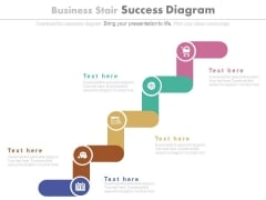 Five Stairs Success Steps Diagram Powerpoint Slides