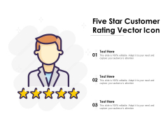 Five Star Customer Rating Vector Icon Ppt PowerPoint Presentation Infographic Template Backgrounds