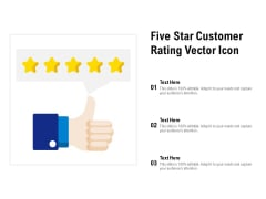 Five Star Customer Rating Vector Icon Ppt PowerPoint Presentation Professional Icons