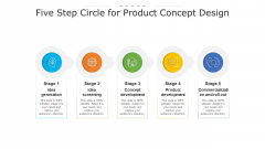 Five Step Circle For Product Concept Design Ppt PowerPoint Presentation File Professional PDF