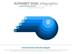 Five Steps Alphabet Goal Infographics Powerpoint Slides